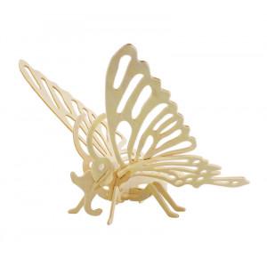 ROWOOD Ξύλινο 3D πάζλ πεταλούδα JP204, 16τμχ RBT-JP204