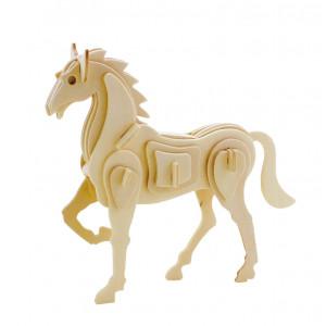 ROWOOD Ξύλινο 3D πάζλ άλογο JP207, 30τμχ RBT-JP207