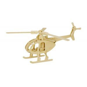 ROWOOD Ξύλινο 3D πάζλ ελικόπτερο JP233, 32τμχ RBT-JP233