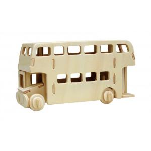 ROWOOD Ξύλινο 3D πάζλ London Bus JP238, 26τμχ RBT-JP238