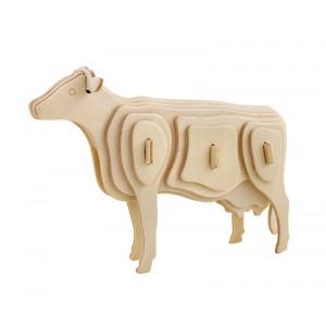 ROWOOD Ξύλινο 3D πάζλ αγελάδα JP251, 23τμχ RBT-JP251