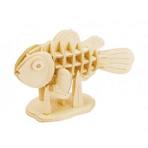 ROWOOD Ξύλινο 3D πάζλ Clownfish JP278, 36τμχ RBT-JP278