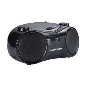 THOMSON Φορητό ηχοσύστημα RCD210UBT, Βluetooth, FM/CD/USB, μαύρο RCD210UBT