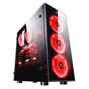 REDRAGON Gaming case GC601 Sidewipe, 4x RGB fans, Tempered Glass, μαυρο RDR-GC601