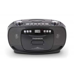 THOMSON Φορητό ηχοσύστημα RK200CD, FM/CD/Tape/REC, LCD, μαύρο RK200CD