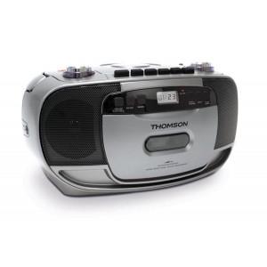THOMSON Φορητό ηχοσύστημα RK203CD, FM/CD/Tape/REC, LCD, ασημί RK203CD
