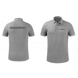 ROCKROSE t-shirt με γιακά τύπου Polo RMS02, γκρι, XL RMS02-XL