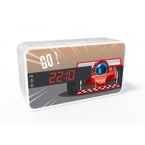 BIGBEN Ξυπνητήρι RR15CAR, Dual alarm, FM Radio, LED display, λευκό RR15CAR