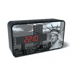BIGBEN Ξυπνητήρι RR15LIBERTY, Dual alarm, FM Radio, LED display, λευκό RR15LIBERTY