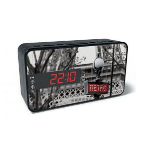 BIGBEN Ξυπνητήρι RR15METRO, Dual alarm, FM Radio, LED display, μαύρο RR15METRO