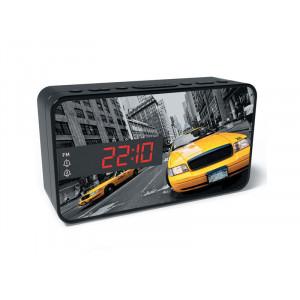 BIGBEN Ξυπνητήρι RR15TAXI, Dual alarm, FM Radio, LED display, μαύρο RR15TAXI