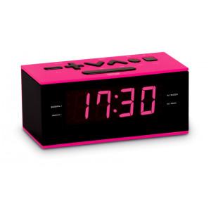 BIGBEN Ξυπνητήρι RR60RSN, FM radio, Dual alarm, ροζ RR60RSN