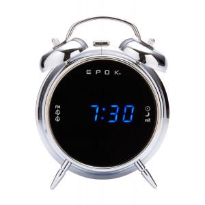 BIGBEN Ξυπνητήρι RR90EPOKS, FM Radio, LED, ασημί RR90EPOKS