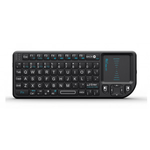 RIITEK Ασύρματο πληκτρολόγιο mini X1 με touchpad, 2.4GHz, μαύρο RT-MWK01