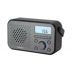 THOMSON Φορητό ψηφιακό ραδιόφωνο RT300, FM/MW, LCD, ξυπνητήρι, γκρι RT300