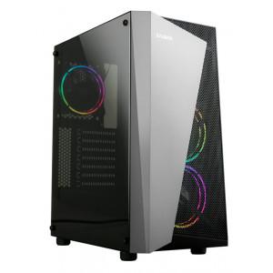 ZALMAN PC case S4 Plus, mid tower, 400x206x458mm, 3x fan, διάφανο πλαϊνό S4PLUS