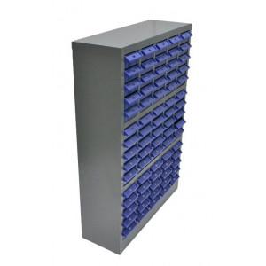 Συρταροθήκη 75 θέσεων S515-B με μεταλλικό πλαίσιο, γκρι-μπλε S515-B