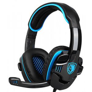 SADES gaming headset SA-708GT, 3.5mm, 40mm, μπλε SA-708GT-BL