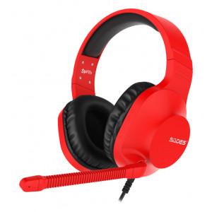 SADES Gaming Headset Spirits SA-721, multiplatform, 3.5mm, κόκκινο SA-721-RD