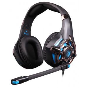 SADES gaming headset SA-822, 3.5mm, 50mm, μαύρο SA-822