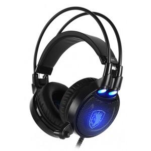 SADES Gaming Headset Octopus Plus με δόνηση, multiplatform, USB, μαύρο SA-912-BL