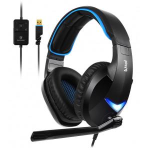 SADES Gaming Headset Wand SA-914-BL, 7.1CH, USB, 40mm ακουστικά SA-914-BL