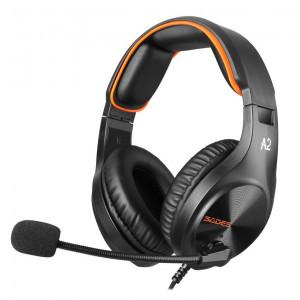 SADES Gaming Headset A2, multiplatform, 3.5mm, μαύρα SA-A2-OR