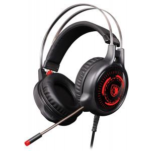 SADES Gaming Headset G50, multiplatform, 3.5mm, 50mm ακουστικά, μαύρα SA-G50-BKRD