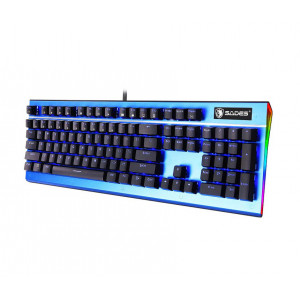 SADES Ενσύρματο πληκτρολόγιο K13 Sickle, μηχανικό, RGB Side, Blue switch SA-K13-BL
