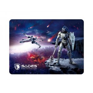 SADES Gaming Mouse Pad Lightning, Low Friction, Rubber base, 350 x 260mm SA-LIGHTNING