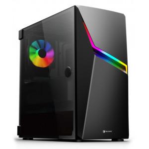 SADES PC case Niu mid tower 423x210x453mm, 1x fan, διάφανο πλαϊνό, μαύρο SA-NIUAK2