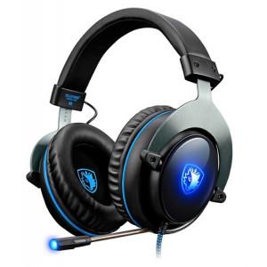SADES gaming headset SA-R12PRO, USB, 50mm, 7.1CH, LED, μαύρο SA-R12PRO