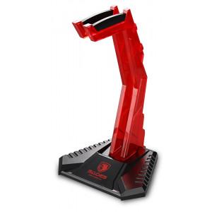SADES ατομικό Stand W10 Anubis Staff για headset, USB 3.0, LED, κόκκινο SA-W10-RD