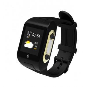 GPS Ρολόι χειρός SD-SW802 για ηλικιωμένους, SOS, μέτρητής παλμών, μαύρο SD-SW802-BK