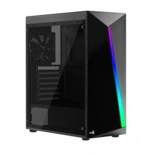 AEROCOOL PC case mid tower SHARD-G, 194x444x423.5mm, 4x RGB fan, μαύρο SHARD-G-BK-V2