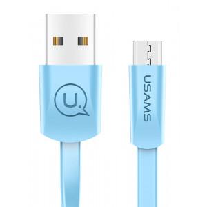 USAMS Καλώδιο USB σε Micro USB US-SJ201, 1.2m, μπλε SJ201MIC04