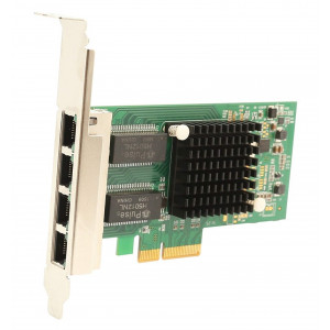 POWERTECH Κάρτα Επέκτασης PCI-e to 4x LAN 10/100/1000, Chip Intel i350 SLOT-023