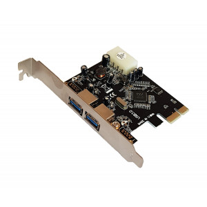 POWERTECH Κάρτα Επέκτασης PCI-e to USB 3.0, 2 ports, Chipset VL805 SLOT-024