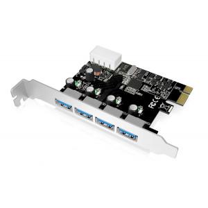 POWERTECH Κάρτα Επέκτασης PCI-e σε USB 3.0, 4 θύρες, Chipset VL805 SLOT-025