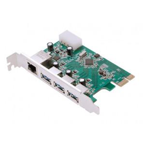 POWERTECH Κάρτα Επέκτασης PCI-e σε USB 3.0 & 1x LAN, VL805+RTL8153 SLOT-026