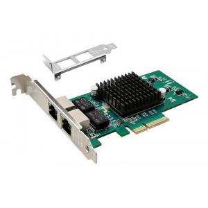 POWERTECH Κάρτα Επέκτασης PCI-e σε 2x LAN, Chip Intel 82576 SLOT-029
