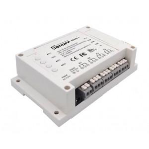 SONOFF Smart Διακόπτης 4CH PRO R2, 4 θέσεων, 10A, WiFi, RF, λευκός SNF-4CHPROR2