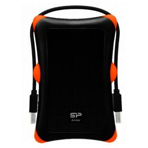 SILICON POWER εξωτερικός HDD 1TB Armor A30, USB 3.1, μαύρο SP010TBPHDA30S3K