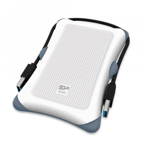SILICON POWER εξωτερικός HDD 1TB Armor A30, USB 3.1, λευκό SP010TBPHDA30S3W