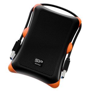 SILICON POWER εξωτερικός HDD 2TB Armor A30, USB 3.1, μαύρο SP020TBPHDA30S3K