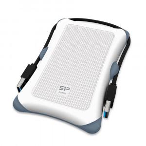 SILICON POWER εξωτερικός HDD 2TB Armor A30, USB 3.1, λευκός SP020TBPHDA30S3W