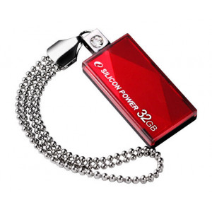 SILICON POWER USB Flash Drive Touch 810, 32GB, USB 2.0, Red SP032GBUF2810V1R