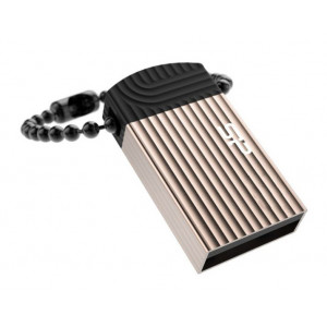 SILICON POWER USB Flash Drive Touch T20, 32GB, USB 2.0, Gold SP032GBUF2T20V1C