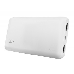 SILICON POWER Power Bank S200 20000mAh, 2x USB Output, White SP20KMAPBK200P0W