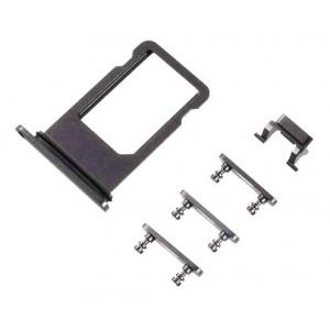 Υποδοχή Κάρτας SIM και Side Button για iPhone 8, Black SPIP8-0032
